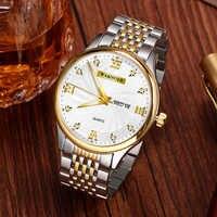 WAKNOER Men Watch Fashion Stainless steel Strap Men's Watch Personality Waterproof quartz watch zegarek meski relogio masculino