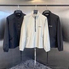 ESSENTIALS100% 1:1 Men's New Fashion Jacket 1 High Brand Street Reflective Logo Hip Hop Loose Unisex Nylon Jacket 2021