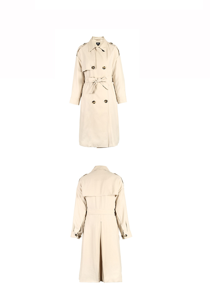 ONLY 19 Women's Loose Fit Long Wind Coat |119136568 18