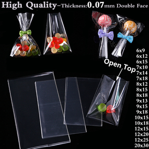Clear Poly OPP Plastic Bag Cookies Candy Jewelry Packaging Bags Christmas Wedding Birthday Party Packing Small Gift Bags Pouch(China)