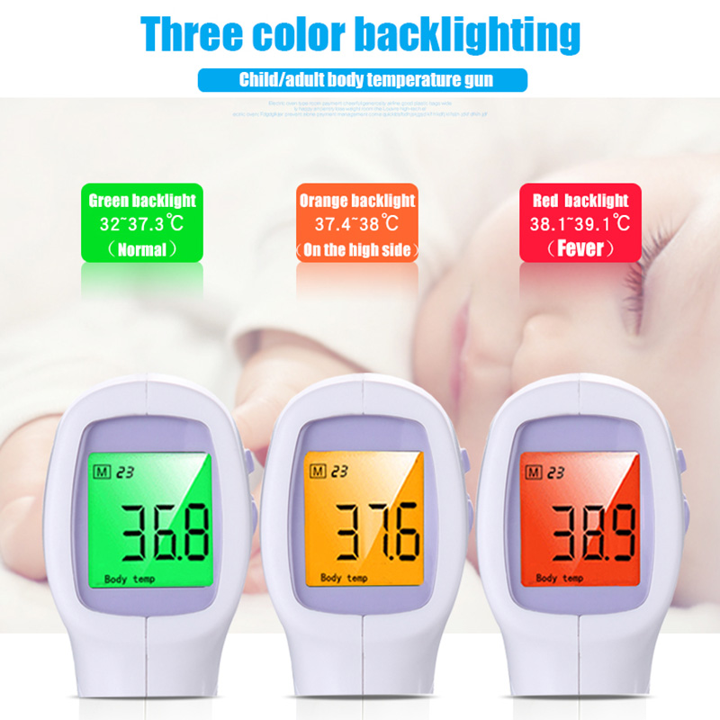 Brand auto forehead lcd non contact body water electronic baby infrared digital thermometer fever Adult digital non contact care in Thermometers from Mother Kids