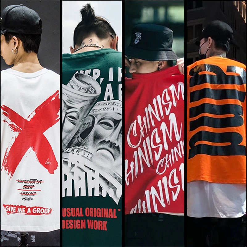 Men Clothes T-shirt Summer Fashion Short Sleeve Big Alphabet Clothing Mens Oversized T-shirts Funny Hip Hop Rap Urban Streetwear