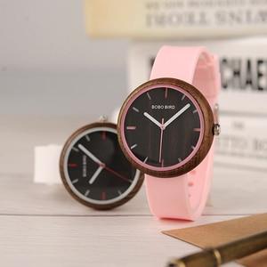 Image 1 - BOBO BIRD R28 relogio feminino Colorful Silicone Strap Womens Watches Quartz Wristwatches reloj mujer Women Watch Fashion Gifts