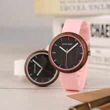 Bobo pássaro r28 relogio feminino colorido pulseira de silicone relógios femininos relógios de pulso de quartzo reloj mujer