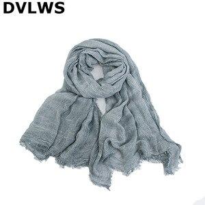 Женские льняные шарфы с градиентом, длинные шелковые шарфы из модала, 7 видов цветов, осень 2019