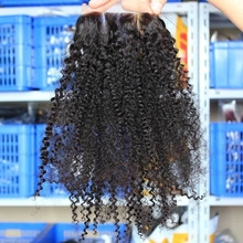 Eseewigs Afro Kinky Curly Brazilian Hair 4*4 Lace Closure Human Hair Swiss Lace Toupee For Women Virgin Human Hair Lace Closure