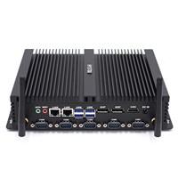 Core i7 8550U/ core i5 8250U industrial mini pc 2 intel Lan HDMI DP EDP LPT SIM Quad Core 8th gen Fanless computer Server