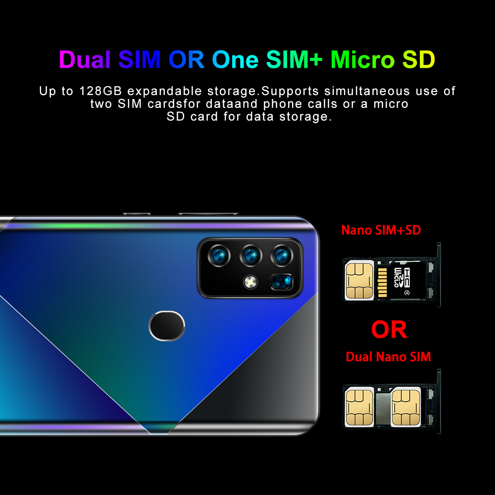 2020 New A90 10-core 8G 256G Dual Card Dual Standby 6.6-inch Full-screen Ultrabook Mobile Phone 4G Network A90 Global version