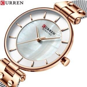 Image 2 - CURREN Creative Simple Quartz Watch Womens Dress Steel Mesh Watches New Clock Ladies  Bracelet  Watch relogios feminino