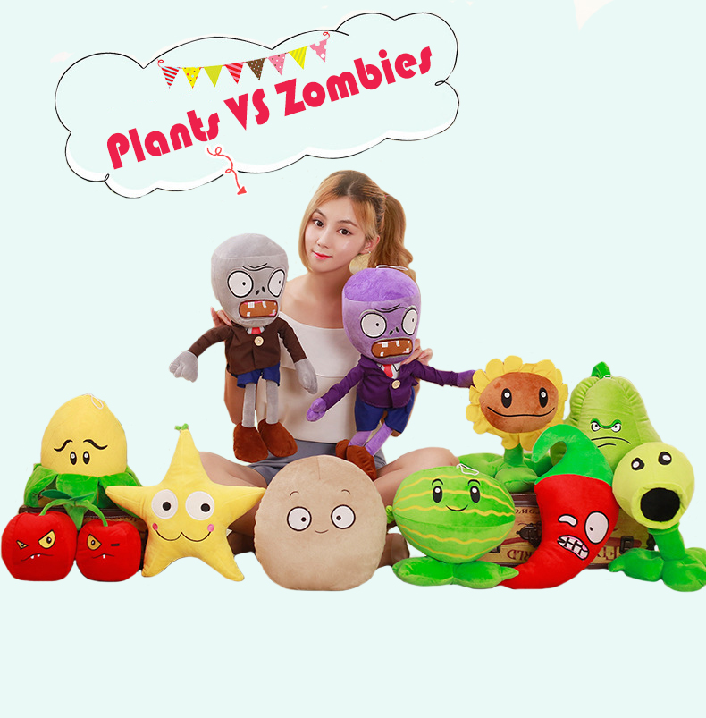 11 Styles Cute Plants Vs Zombies Plush Toys Plants 20-25CM Plush Stuffed Toys Baby Toy Party Birthday Gifts Kids Girls Creative