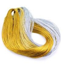 10 м веревка золотой серебряный шнур подарочная упаковочная веревка металлические украшения моток веревки DIY бирка линейный браслет Изготовление этикеток Марка шнур