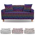 Musical Note Stretch Sofa Cover 1/2/3/4 Seats For Living Room Dust-proof Elastic Slipcover All-Inclusive Couch Covers