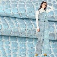High quality bright silk woven yarn dyed plaid jacquard fabric Jacquard suit dress shirt fabric boutique