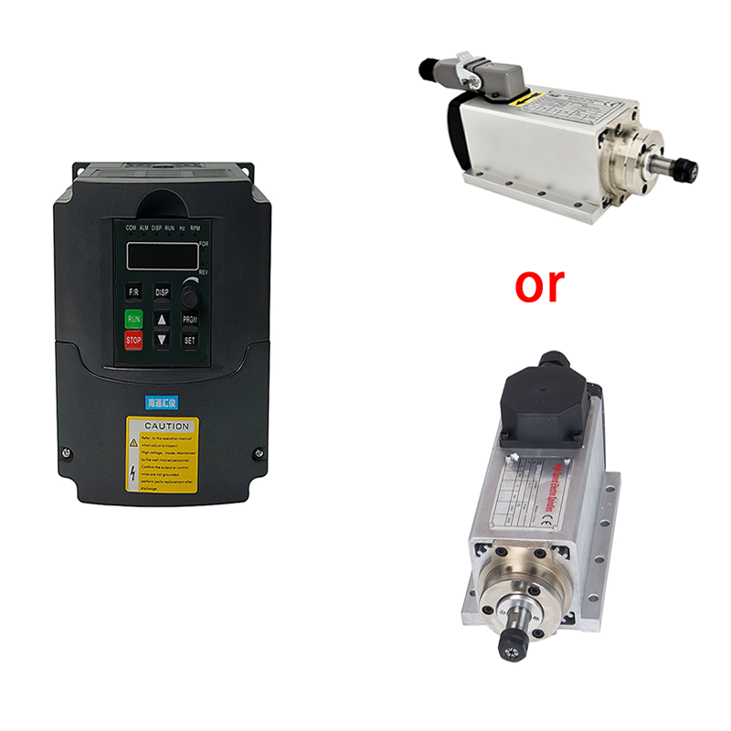 Free shipping 1.5kw 800w air cooled CNC <font><b>spindle</b></font> <font><b>motor</b></font> + <font><b>110V</b></font>/220V inverter Variable Frequency Drive VFD 1.5KW inverter image
