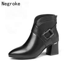 2019 Winter Women Boots Fashion Pointed Toe High Heels Women's Shoes Sexy Autumn Ankle Boots female Zapatos Mujer short boots fashion winter women shoes sexy round toe platform high heels big size 31 45 beige zipper ankle boots zapatos mujer