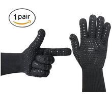 1pair Microwave Oven glove Barbecue Gloves Kitchen Supplies  BBQ  Proof Working Gloves  Heat Resistant 932F Thick Silicone