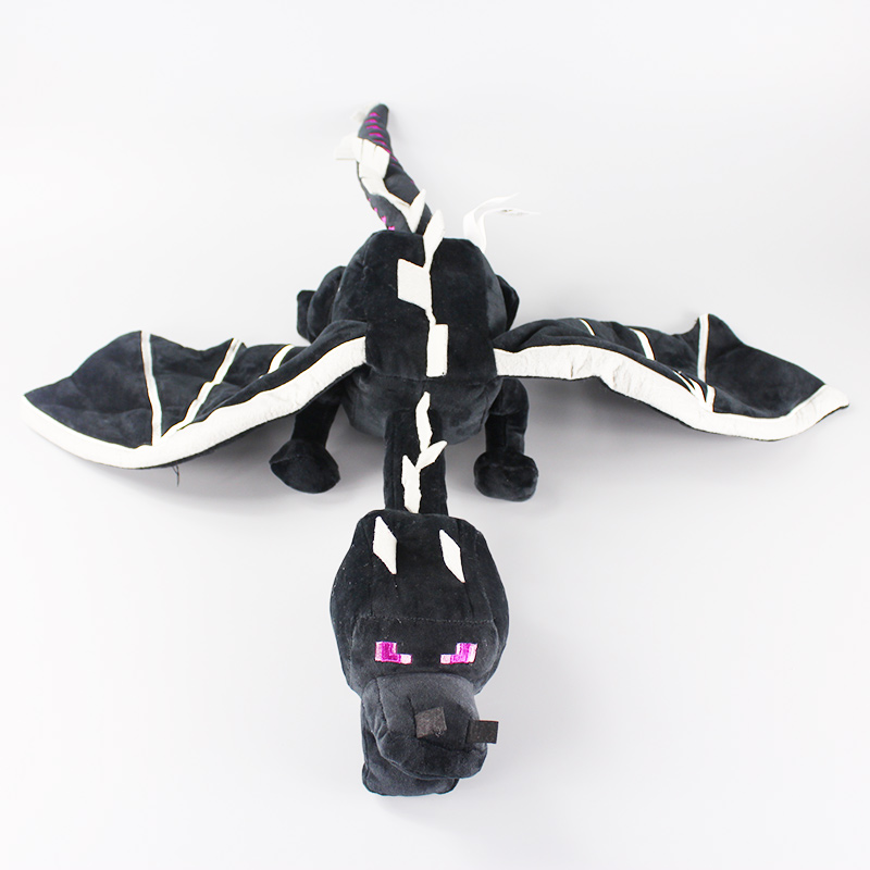 60cm My World Ender Dragon Plush Toy Soft Black Enderdragon PP Cotton Dragon Toys