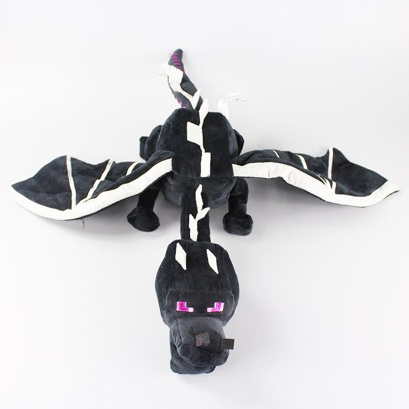 60cm My World Ender Dragon Plush Toy Soft Black Enderdragon PP Cotton Dragon Toys