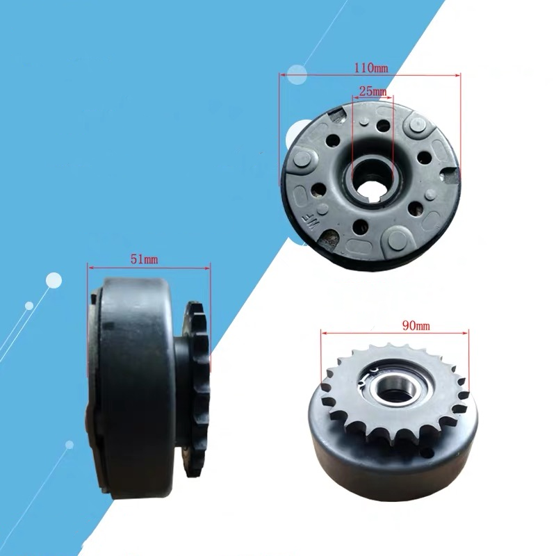 5KW CENTRIFUGAL AUTO. CLUTCH 21T 25MM CHAIN 428 POWDER METALLURGY FOR HONDA GX390 GX420 389CC 13 ~ 15HP GO KART SNOWBLOWER ATV