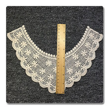 All Cotton Thread Water Soluble Embroidery Round Collar Hollow Lace Cravat Can Be Produced DIY(China)