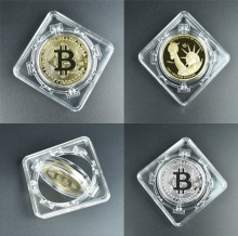 360 Spin bit coin crypto coin Commemorative coin doge coin with BTC coin packag Litecoin Eth Ripple XRP Collectors Coin Gift