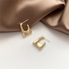 2020 Punk Gold Color Metal Drop Earrings for Women Female Irregular Geometric Square Statement Party Jewelry Oorbellen