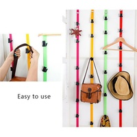 Adjustable Back Door Storage Hook Without Nails Behind The Door Cord Home Clothes Toys Shoes Hats Storage Tool Organizers