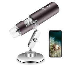 Buy 2MP Wireless Digital Microscope 1000X 8 LED Wifi Magnification Endoscope Mini Pocket Camera with Carrying Case & Metal Stand directly from merchant!