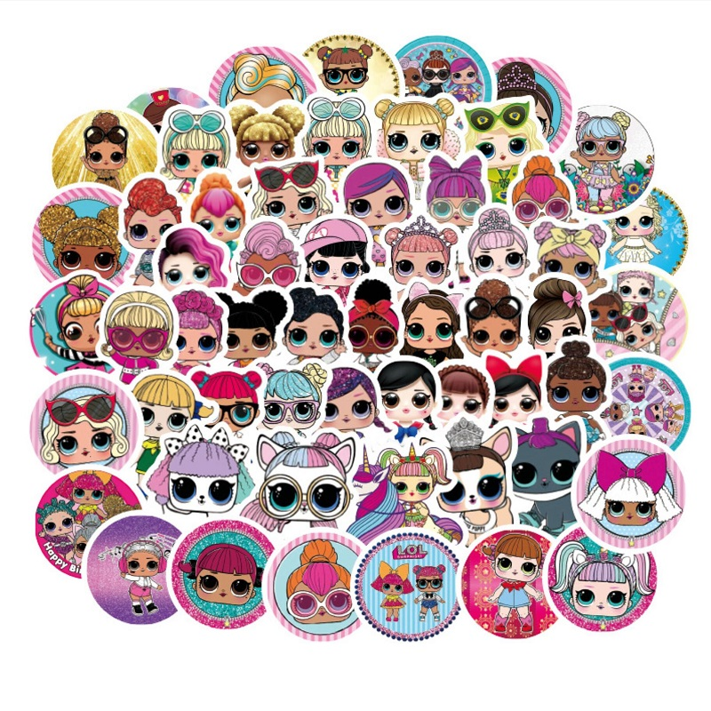 100Pcs Stickers Personality LOL-stickers Children's PVC Graffiti Stickers Suitcase Car Boot Guitar Waterproof