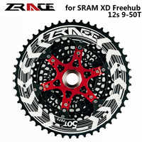 ZRACE 12 Speed MTB Bike Freewheel 9T - 50T , CNC AL 12s Bicycle Cassettes Compatible for SRAM XD freehub , for XX1 X01 NX Eagle