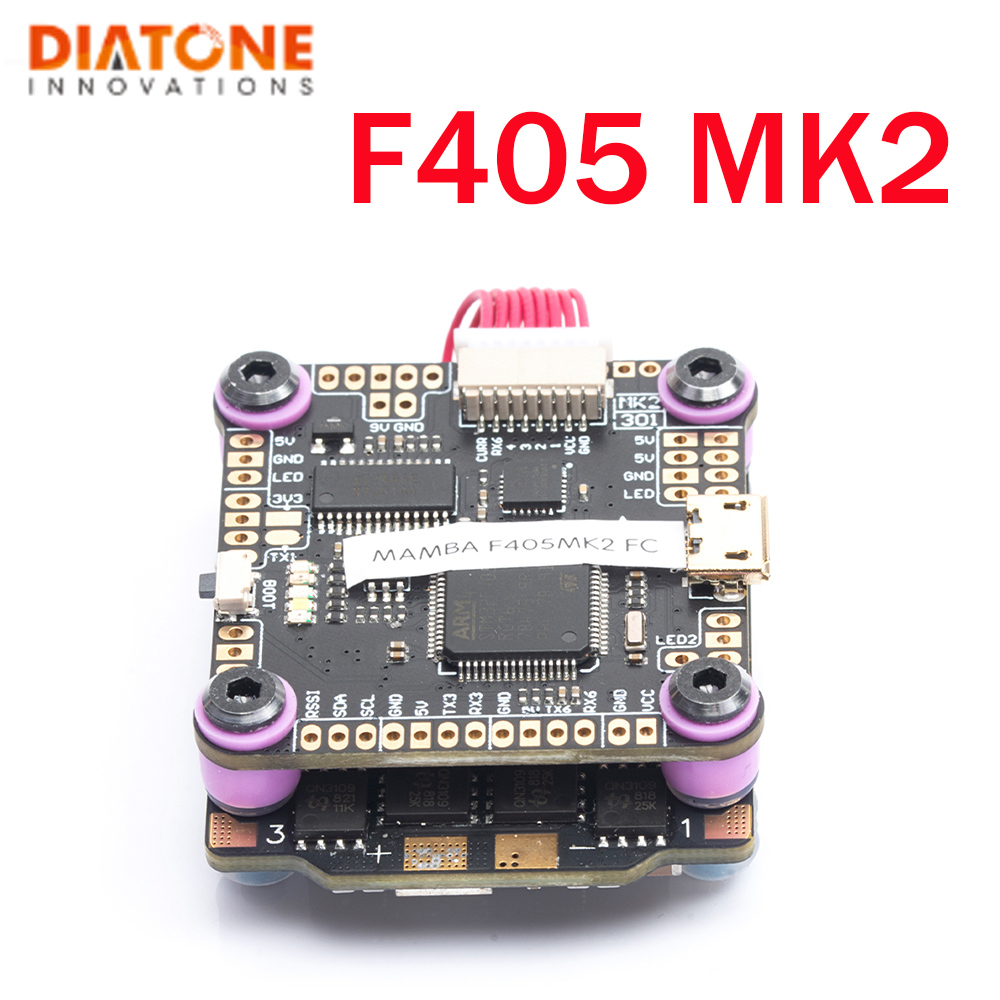 Diatone MAMBA F405 MK2 Flight Controller  F40 40A 3-6S DSHOT600 Brushless ESC For RC Models Multicopter Part Accessories