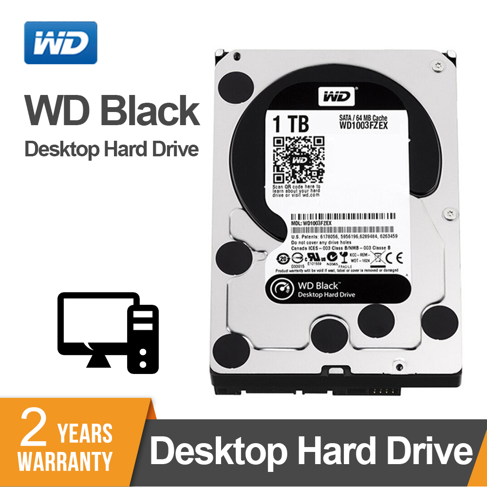 WD Black 1TB <font><b>3.5</b></font> Inch <font><b>HDD</b></font> Performance Desktop Hard Disk Drive - 7200 RPM <font><b>SATA</b></font> 6 Gb/s 64MB Cache - WD1003FZEX image