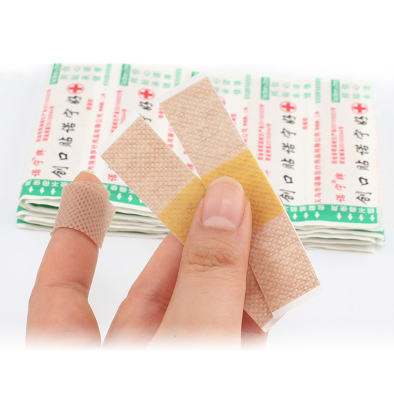 100Pcs/Lot First Aid Medical Waterproof Band-Aids Bandages Anti-Bacteria Wound Plaster Dressing Band Home Travel Emergency Kits
