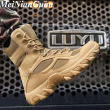 Platforma zimowe trampki dla mężczyzn wysokie góry duże rozmiary buty robocze ciepłe taktyczne męskie buty zasznurować komfort wojskowe męskie buty N3