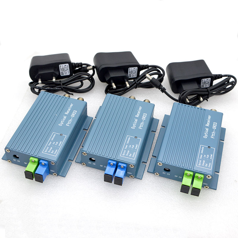 8pcs New Fiber Optic Equipment FTTH CATV Optical Receiver With WDM AGC  Control Converter SC PC APC Adapter With 2 RF inch Output|Fiber Optic  Equipments| - AliExpress