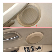 4pcs car front rear door speaker cover For BMW E90 E91 series horns lid high quality loudspeaker case trim decoration article for 1991 1999 bmw 3 series e36 6x9 rear speaker adaptors kit rings spacers high quality car speaker adapter