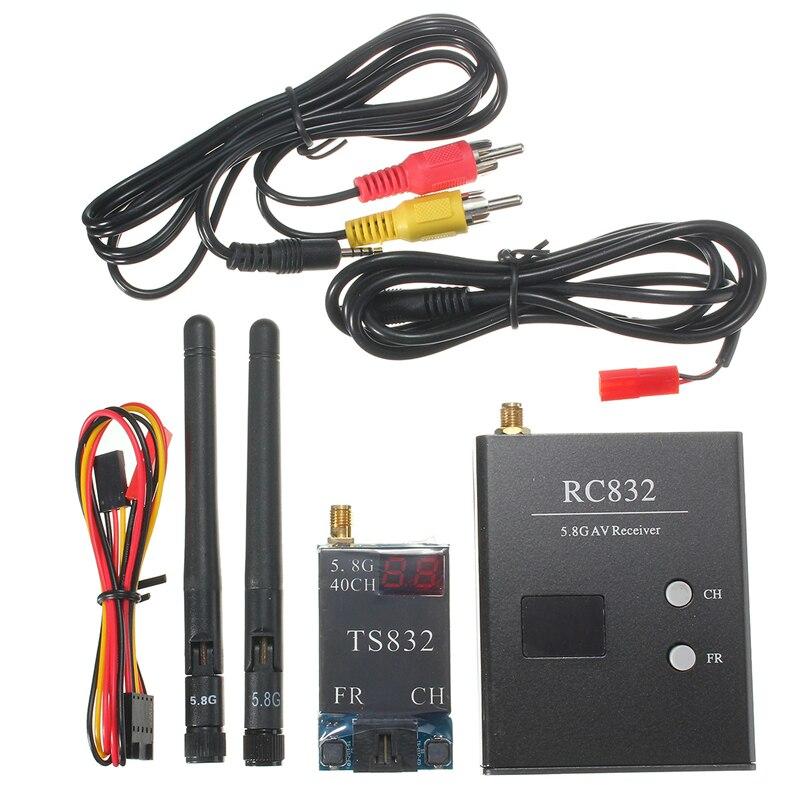 5.8G 600mw 5KM Wireless AV Transmitter TS832 40CH + RC832 TS5823 TS5828 Receiver 48CH  For RC FPV Racing Drone