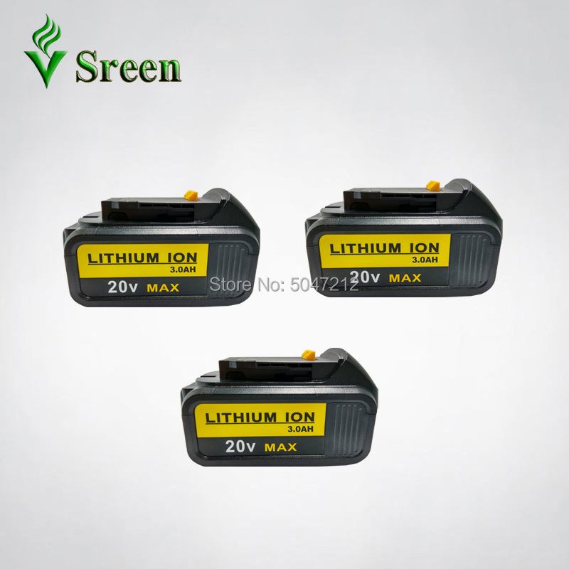 18V 3000mAh Li ion Replacement for DEWALT Power Tool Rechargeable Battery DCB180 DCB181 DCB182 DCB200 DCB201 DCB203 DCB204 Replacement Batteries     - title=