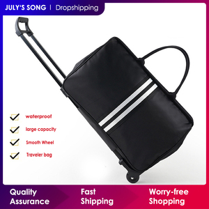 Image 1 - JULYS SONG Men Luggage Bags Trolley Travel Bag With Wheels Rolling Carry on Suitcase Bag Wheeled Women Bolsas