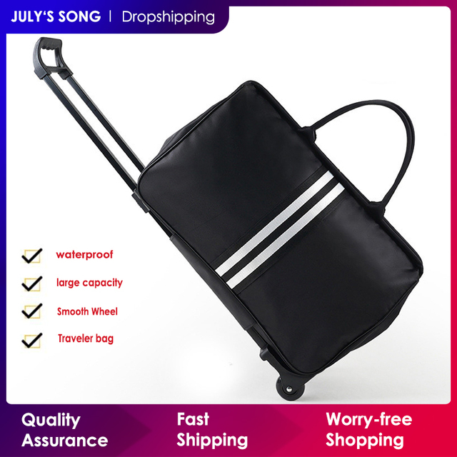 JULYS SONG Men Luggage Bags Trolley Travel Bag With Wheels Rolling Carry on Suitcase Bag Wheeled Women Bolsas