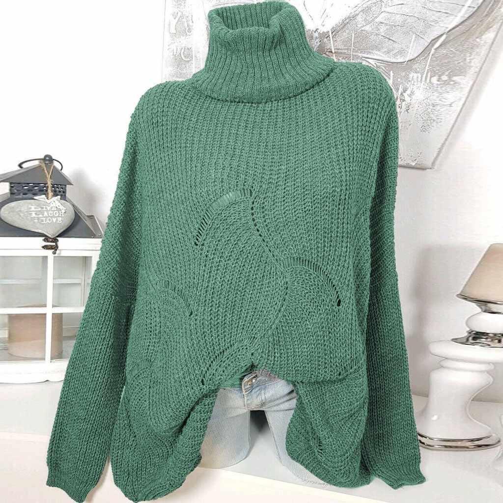 Зимние женские свитера с высоким воротом Свободные повседневные трикотажные пуловеры длинный рукав толстый джемпер женские элегантные топы короткие теплые трикотажные