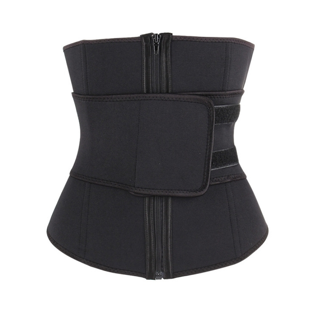Women's Bodyshaper Workout Sweat Belt Corset Belt Ladies Firm Waist Trainer Neoprene Fitness Button Girdle Corset Trimmer Vest 5