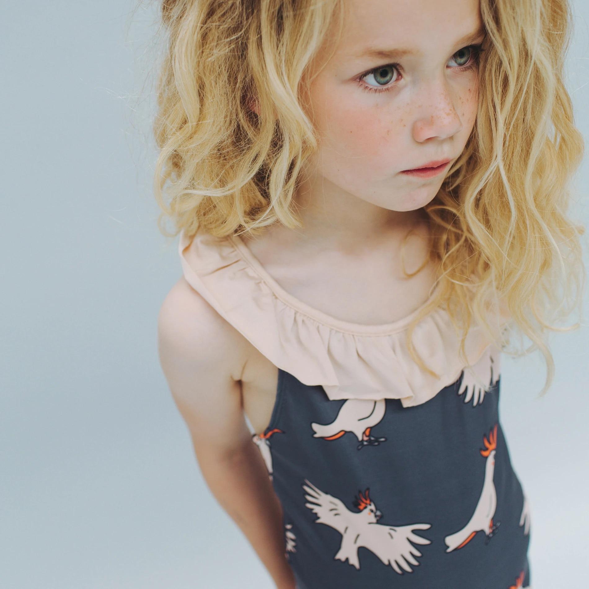 CarlijnQ 2020 Summer Kids Swimwear For Girls Beachwear One Piece Bikini Swimsuit Children Boys Swimming Tops And Shorts Suit
