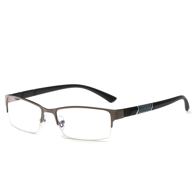 Reading Glasses Men Business Glasses  Fashion Metal Half Frame Eyewear Myopia Eyeglasses Diopter -0.5 To -6