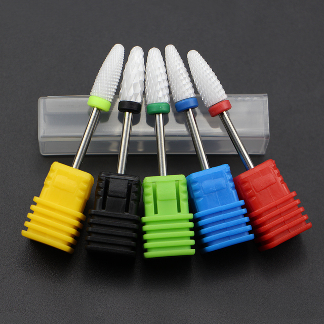 Most Complete 27 Type Ceramic Nail Drill Bit For Electric Drill Machine Manicure Accessory Ceramic Milling Cutter Nail File Tool 5