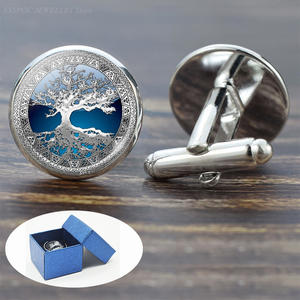 Cufflinks Shirt Tree-Of-Life Men Best Accessories for Man