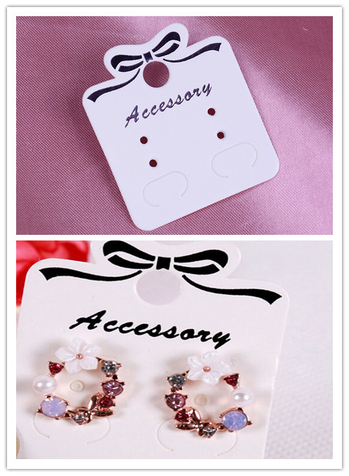 100Pcs Ear Studs Card Tag Jewelry Displays Label Paper Kraft Hairpin/Necklace/Earring/Pendant Packing Cards Paper Marking Tags
