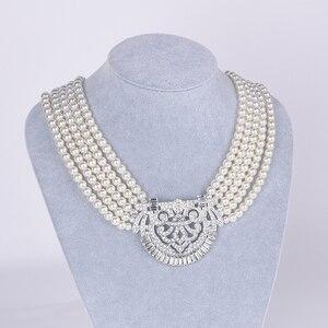 Image 3 - HW naszyjnik z pereł, akcesoria dla druhen ślubnych, akcesoria imprezowe, prezenty urodzinowe dla dziewczyn