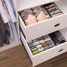 Multi-size Foldable Storage Boxes Underwear Closet Drawer Divider Lidded Closet Organizer For Ties Socks Bra Underwea