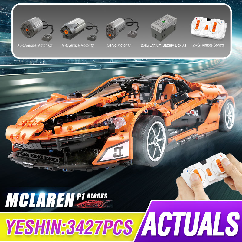 Technic MOC McLaren P1 Super Hypercar Veneno Roadster Model Kit Building Blocks Compatible Lepining 42056 APP RC Car Bricks Toys